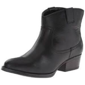 Kenneth Cole Western Booties Black Leather 9.5